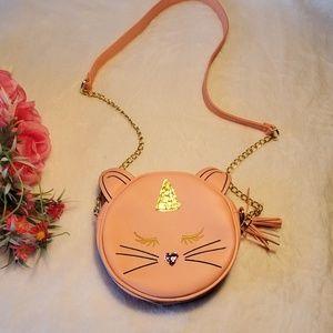 Olivia Miller Pink Cat Crossbody Purse